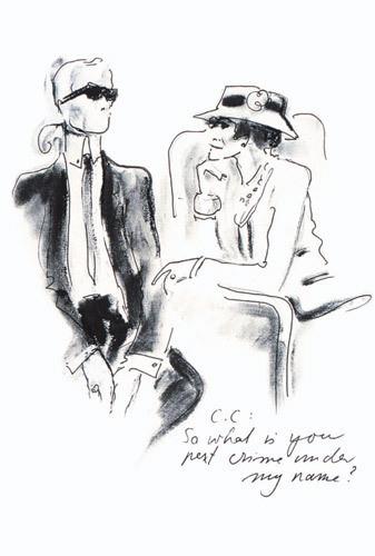 Иллюстрация Карла Лагерфельда к книге «Coco Chanel. Легенда и жизнь» . Изображение № 9.