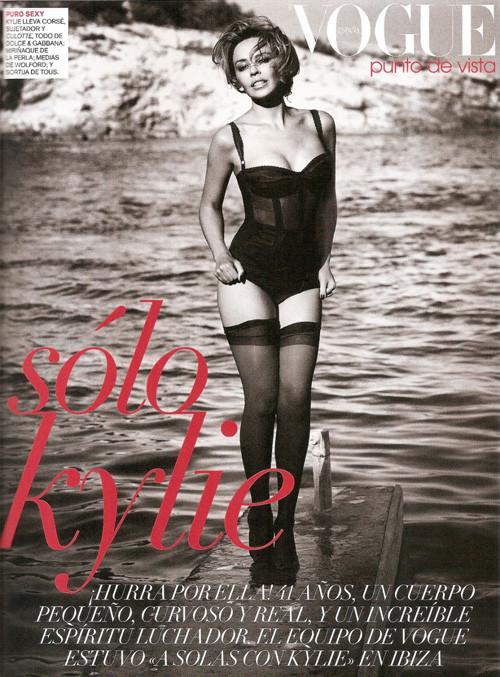 Кайли Миноуг снялась в фотосессии для испанского Vogue. Изображение № 11.