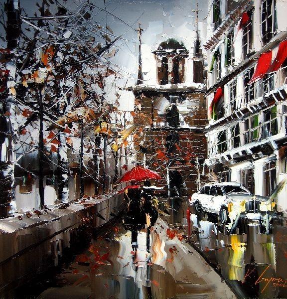 Красные зонтики художника Kal Gajoum. Изображение № 7.
