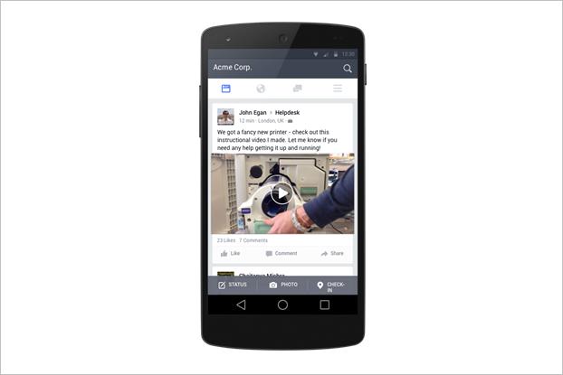 Facebook запустит версию соцсети для работы до конца года. Изображение № 3.
