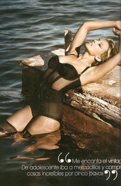 Кайли Миноуг снялась в фотосессии для испанского Vogue. Изображение № 7.