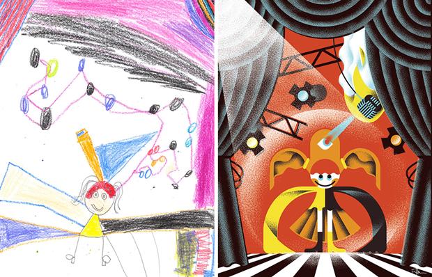 Художники создали монстров наоснове детских рисунков. Изображение № 43.