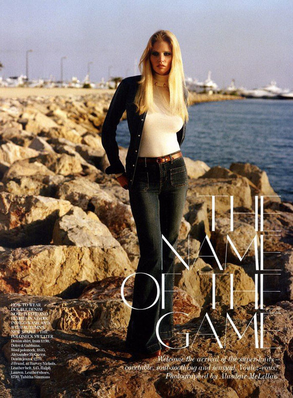 Лара Стоун в Vogue UK. Изображение № 2.