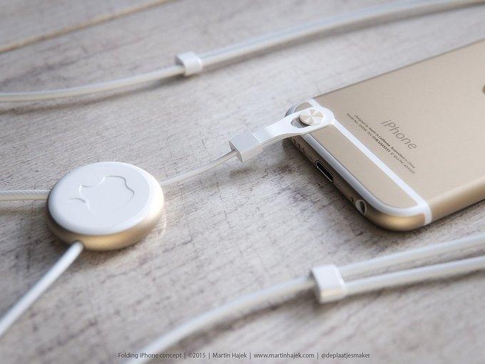 Дизайнер создал концепт раскладного iPhone 6 . Изображение № 11.