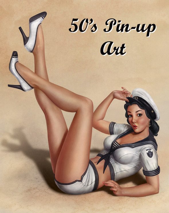 Изображение 12. Pin up girls love cars, airplans and motorcycles.. Изображение № 12.