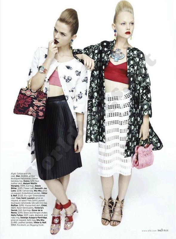Съёмка: Раза Зукаускайте и Анне Софи Монрад для Elle. Изображение № 2.