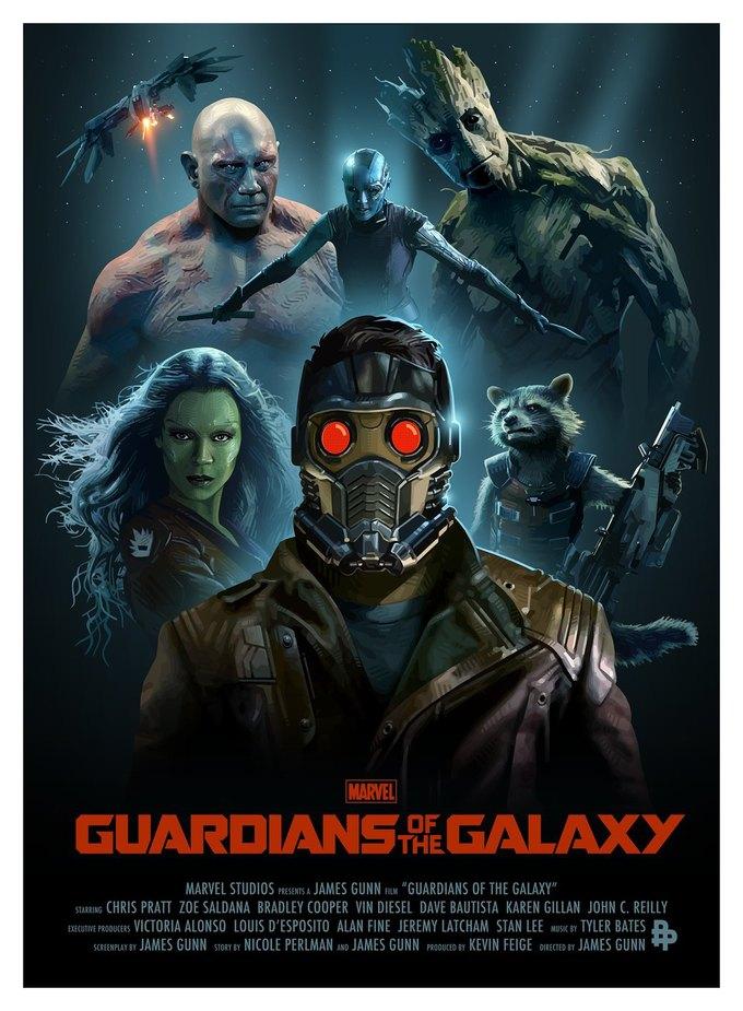 Опубликованы 44 фанатских постера к «Стражам Галактики». Изображение № 1.