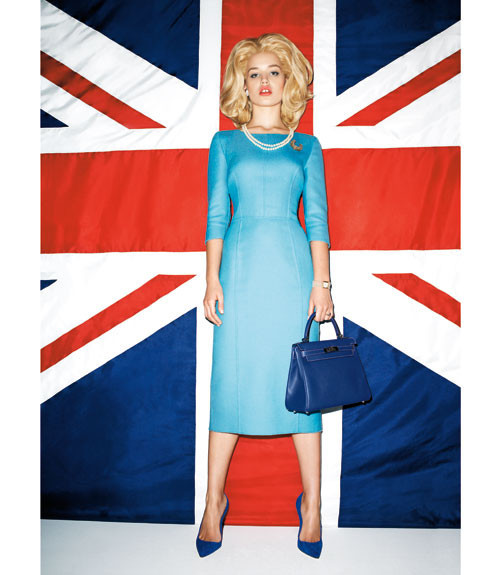Терри Ричардсон снял Джорджию Мэй Джаггер в образе Маргарет Тэтчер. Изображение № 2.