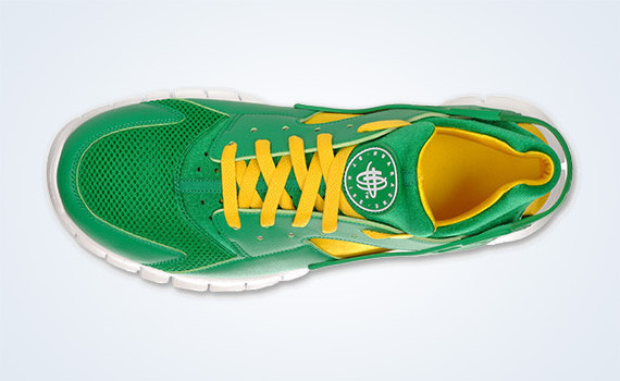 Nike Huarache Free 2012 – Court Green – White – Tour Yellow. Изображение № 5.