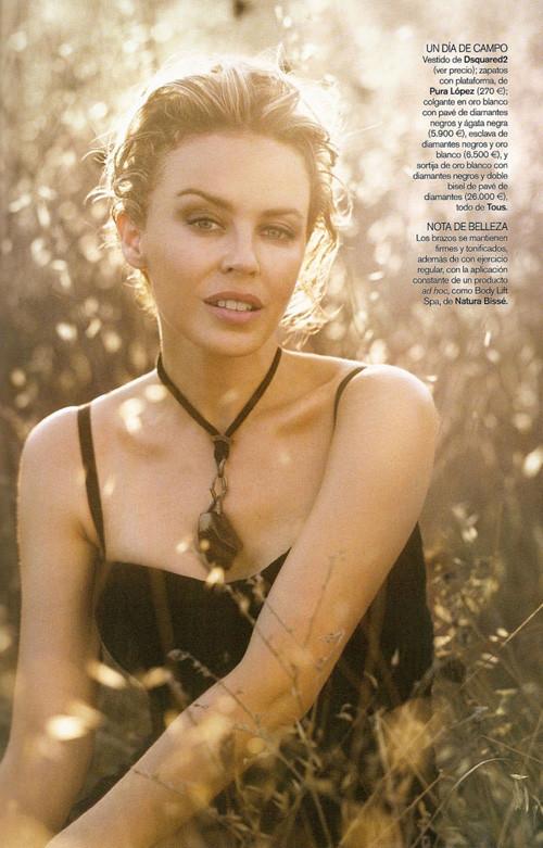 Кайли Миноуг снялась в фотосессии для испанского Vogue. Изображение № 8.
