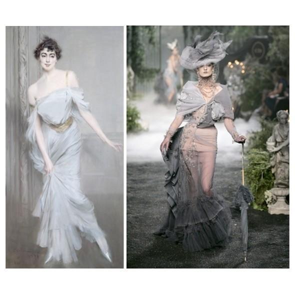«Портрет мадам Шарль Макс» Джованни Болдини / Diore Couture FW 2005 . Изображение № 2.