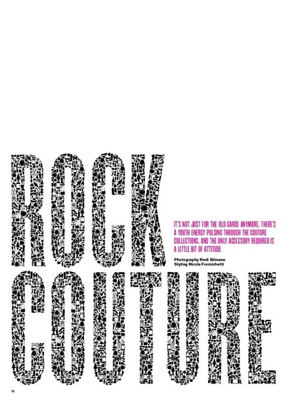 """Журнал: Vmagazine # 62, ноябрь 2009 """"Rock Couture"""". Изображение № 1."""