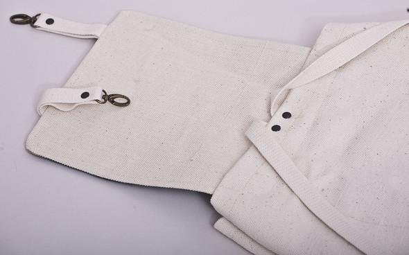 БЕЛОЕ — рюкзаки и сумки из грубого белого хлопка. Изображение № 18.