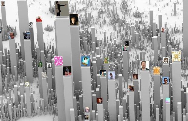 Интерактивная инфографика показала соцсети в виде городов. Изображение № 3.