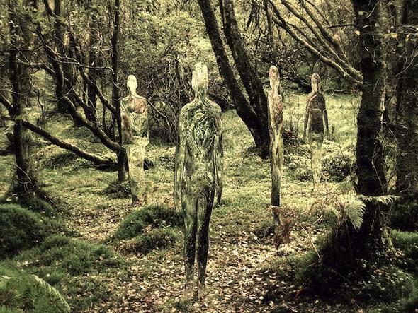 Скульптуры-призраки в шотландском лесу. Изображение № 1.