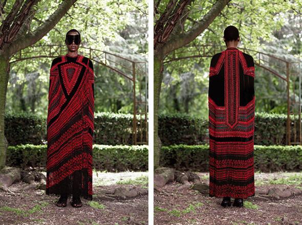 Кутюр в деталях: Маски, бисер и кожа в коллекции Givenchy. Изображение № 21.