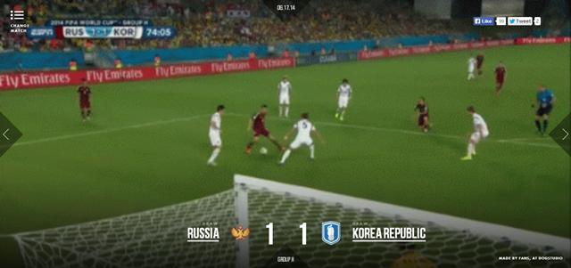 Игрок российской сборной Александр Кержаков забивает гол в ворота корейской команды. Изображение № 1.