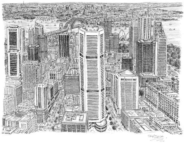 Стивен Вилтшер. Художник рисующий панорамы городов по памяти. Изображение №5.
