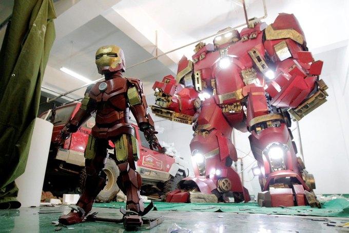 Житель Китая собрал доспехи Железного человека в гараже . Изображение № 4.