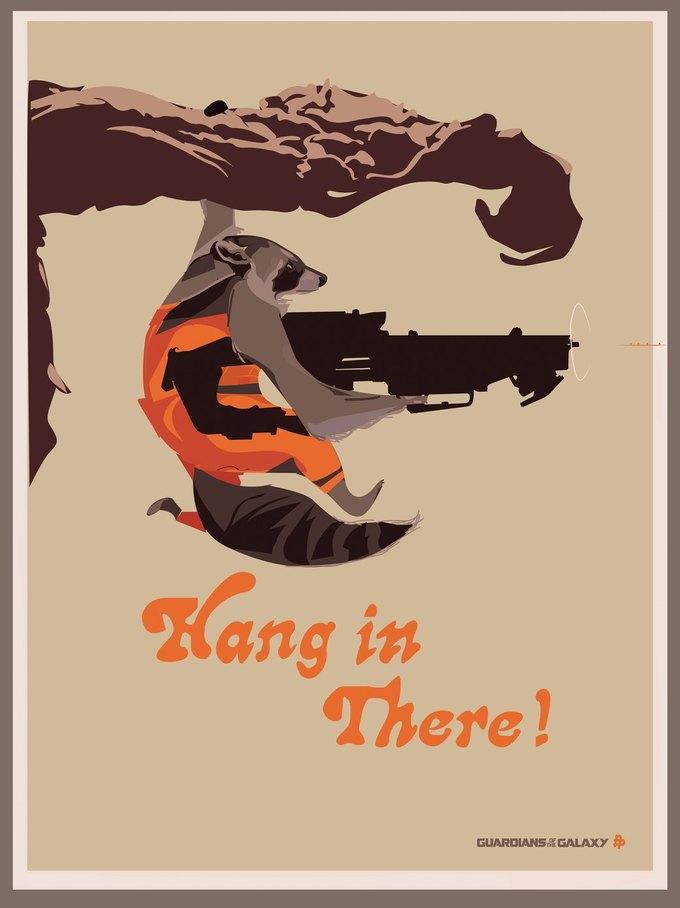 Опубликованы 44 фанатских постера к «Стражам Галактики». Изображение № 20.
