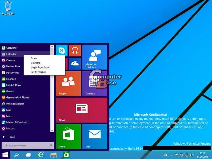 В Сеть «утекли» два десятка скриншотов Windows 9. Изображение № 9.