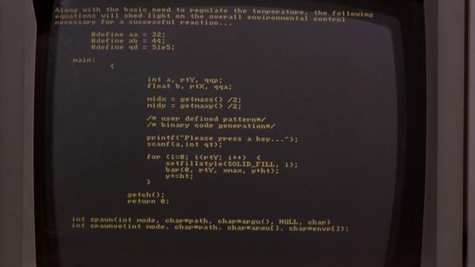 Лайк дня: Программные коды из кино. Изображение № 1.