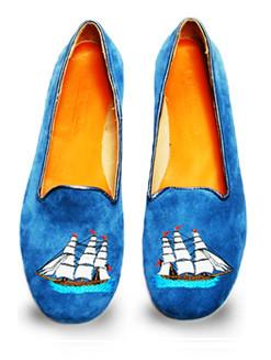 Mario Molinaro - обувь с вышивкой. Изображение № 1.