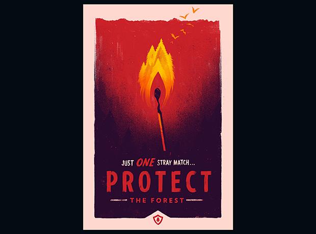 Иллюстратор Олли Мосс нарисовал постеры для игры Firewatch. Изображение № 3.