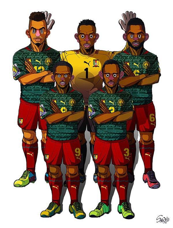 Иллюстратор нарисовал все 32 команды ЧM по футболу . Изображение № 6.