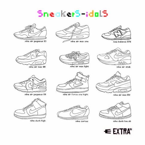 Серия футболок Sneakers Idols отExtra. Изображение № 1.