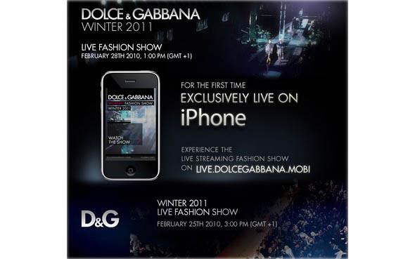 Показ Dolce & Gabbana на iPhone. Изображение № 2.