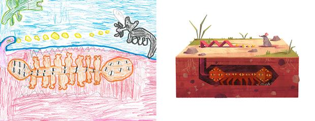 Художники создали монстров наоснове детских рисунков. Изображение № 27.
