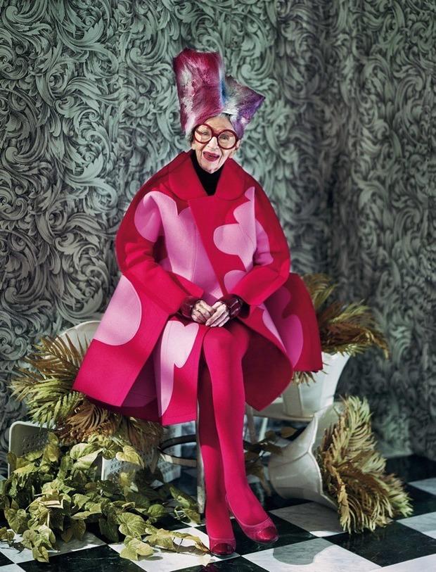 Айрис Апфель снялась для обложки Dazed & Confused. Изображение № 2.