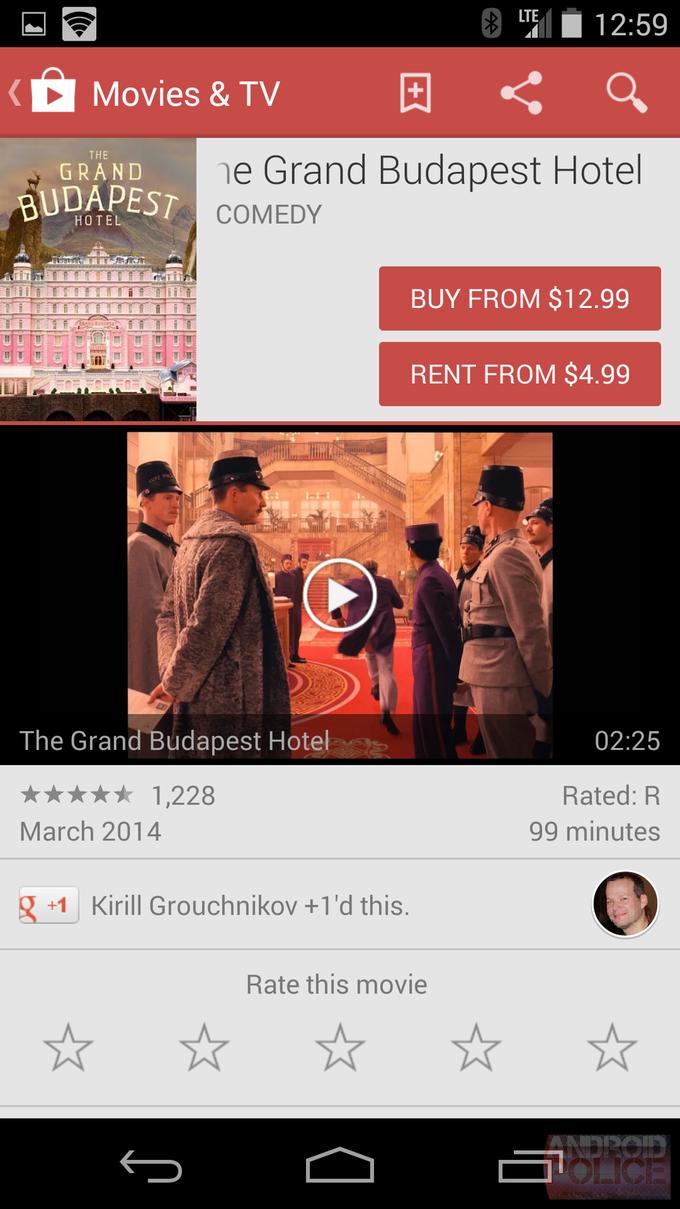 Текущий интерфейс Google Play для смартфонов. Изображение № 17.