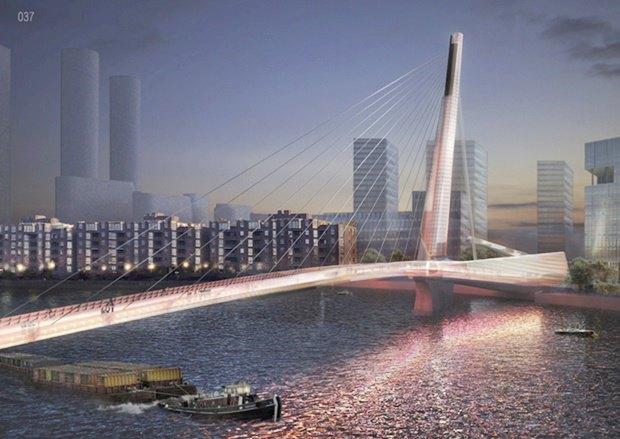 Выложены 74 проекта нового моста через Темзу. Изображение № 11.
