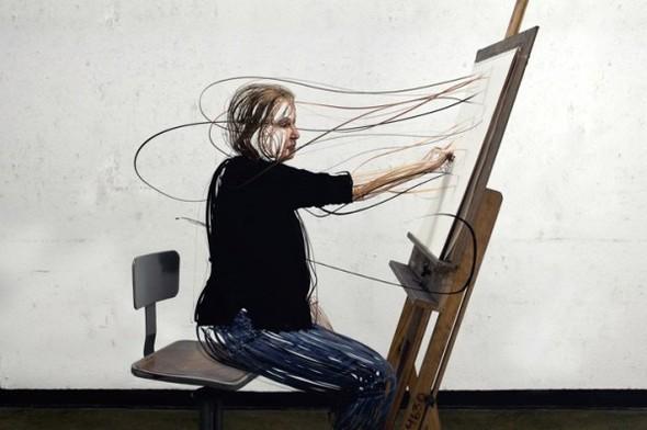 3D SCRIBBLED LINE PORTRAIT. Изображение № 6.