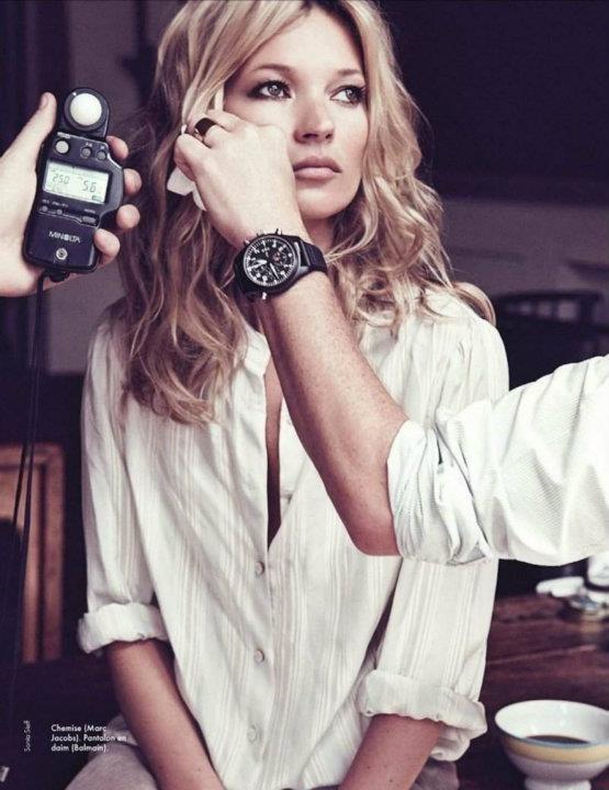 Съемка: Кейт Мосс для Elle Франция. Изображение № 5.