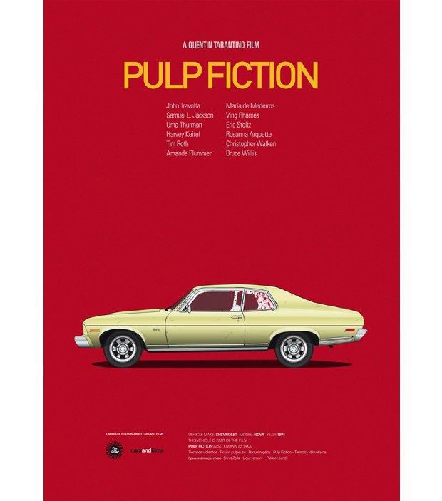 Хиты Голливуда представлены в постерах с культовыми авто . Изображение № 1.