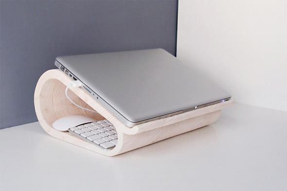 Работы дизайнеров Dopludo Collective.  Подставка для ноутбука из массива дерева.. Изображение № 54.