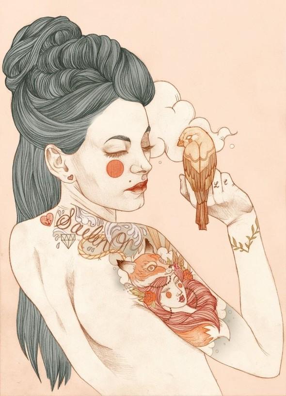Карандашные рисунки художницы из Лондона Liz Clements.. Изображение № 11.