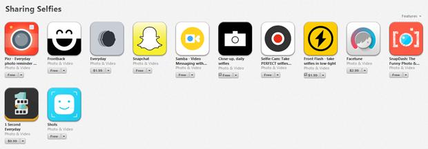 Apple добавила раздел для селфи в App Store. Изображение № 1.