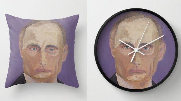Работы Джорджа Буша напечатали на подушках. Изображение № 1.