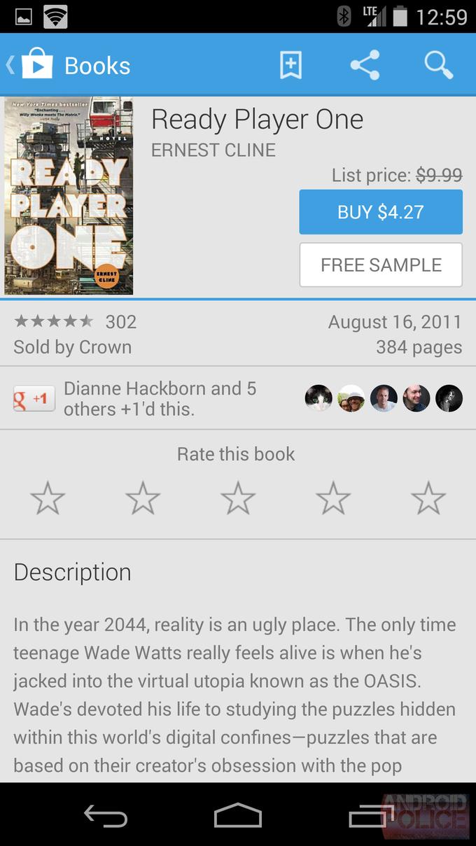 Текущий интерфейс Google Play для смартфонов. Изображение № 21.
