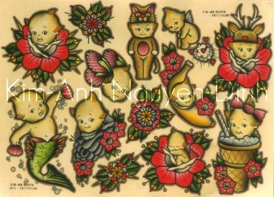 Kim-Anh Nguyen-Dinh : От рисунка к татуировке. Изображение № 5.