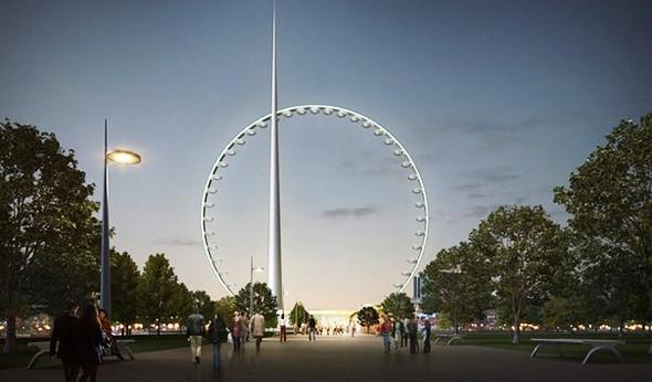 Придумай фирменный стиль для самого большого в мире колеса обозрения. Изображение № 1.