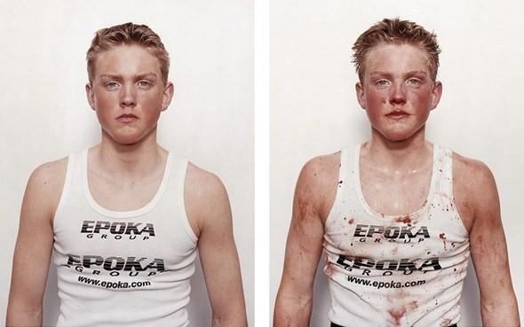 Изображение 1. Юные боксёры: до и после.. Изображение № 1.