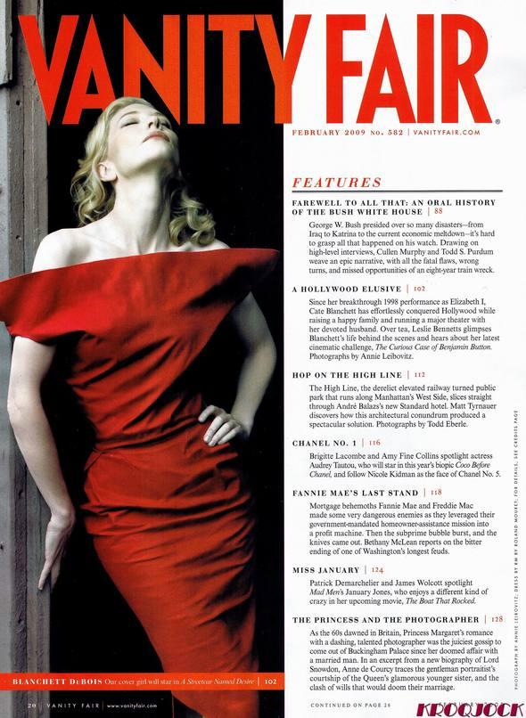 Кейт Бланшетт вжурнале Vanity Fair. Изображение № 2.