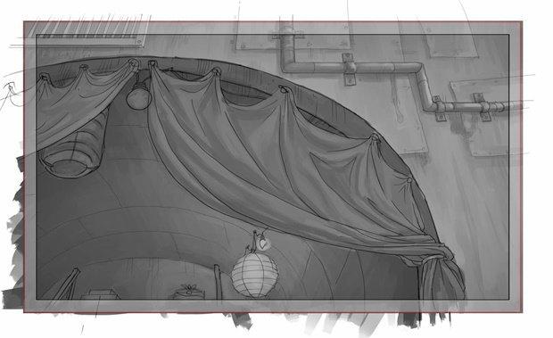 Анимация: бродяга спасает пса встимпанковском городе. Изображение № 35.