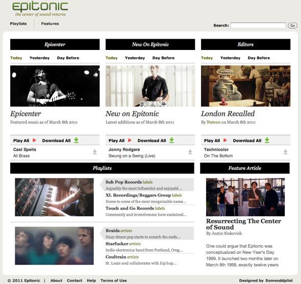 Новый сайт Epitonic. Изображение № 1.