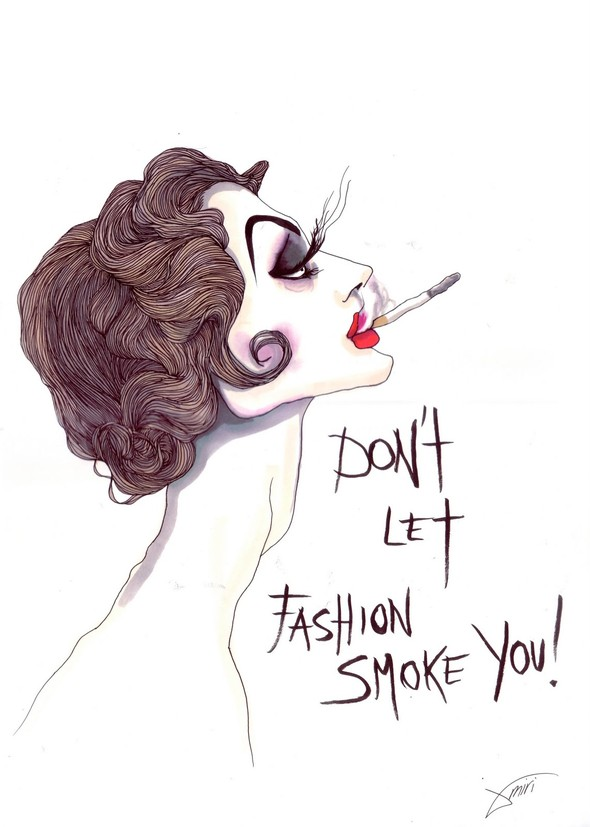 ''Don't let fashion smoke you'' Achraf Amiri. Изображение № 2.